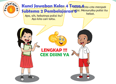 Kunci Jawaban Kelas 4 Tema 6 Subtema 2 Pembelajaran 6 www.simplenews.me