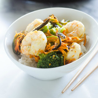 30-Minute Shrimp and Shiitake Stir-Fry