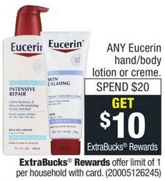 Eucerin Baby Wash CVS Freebie Deal 12/29-1/4