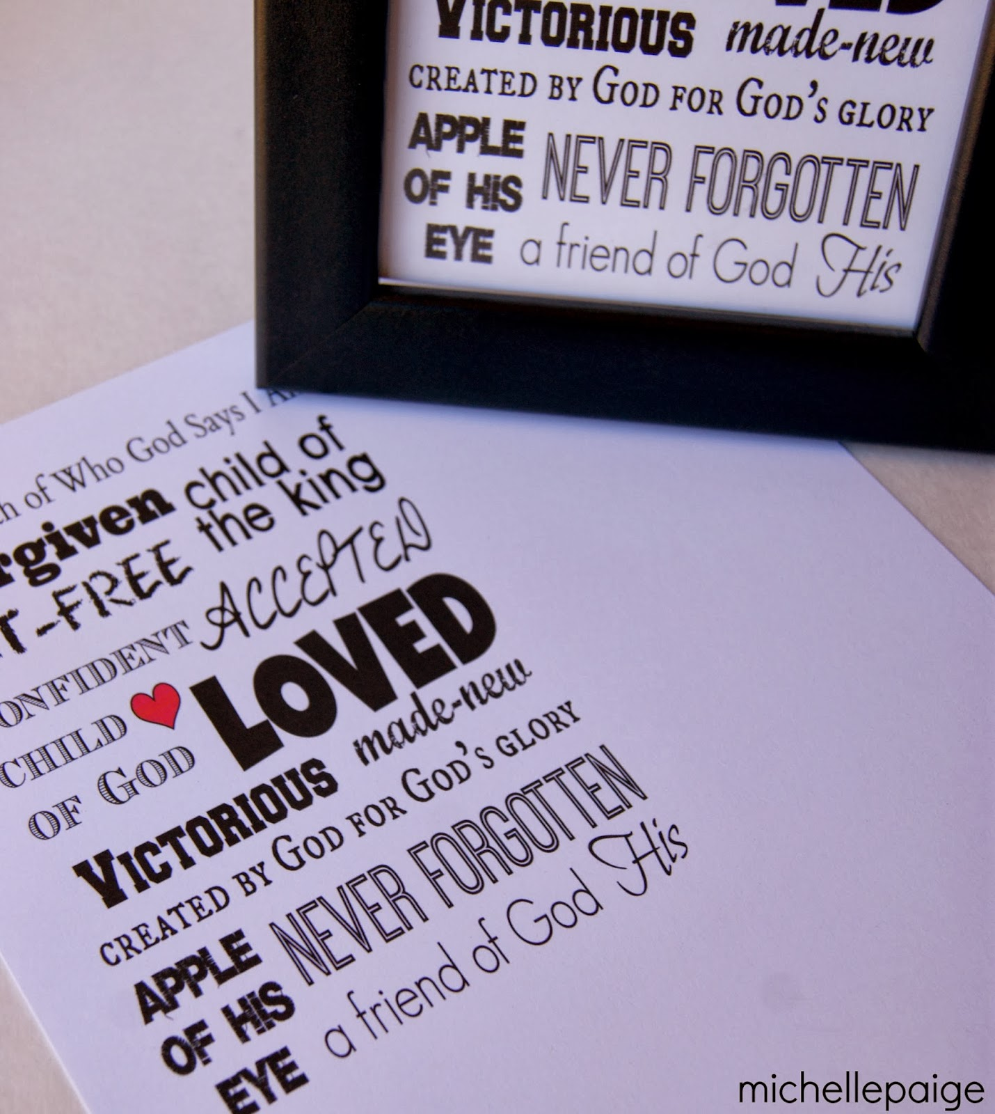 Christian Printables @michellepaigeblogs.com