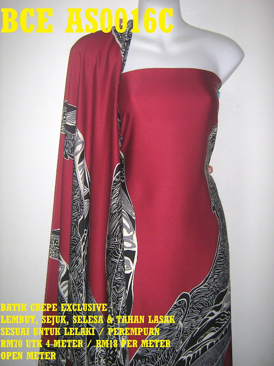 BCE AS0016C: BATIK CREPE EXCLUSIVE ,  4 METER