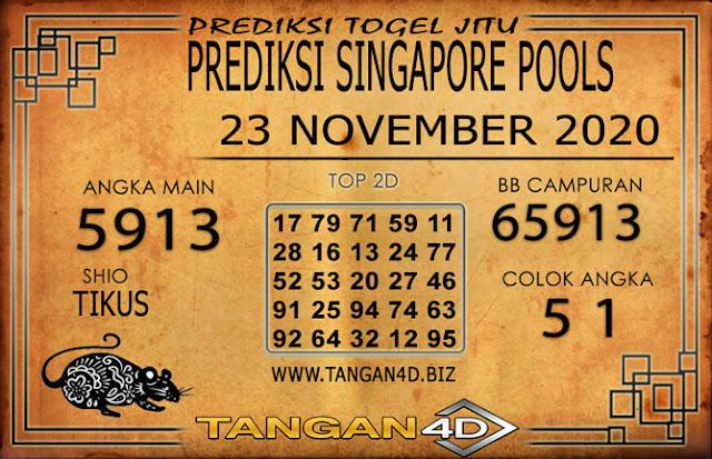 PREDIKSI TOGEL SINGAPORE TANGAN4D 23 NOVEMBER 2020