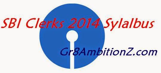 Syllabus of SBI Clerical Online Exam 2014
