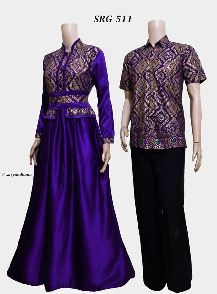 Harga Baju Batik Sarimbit Gamis Terbaru 2017 Srg 511