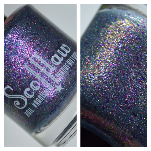 teal nail polish with glitter
