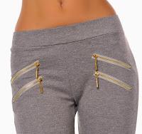 Pantaloni tip colanti cu fermoare la buzunare (newfashionromania)