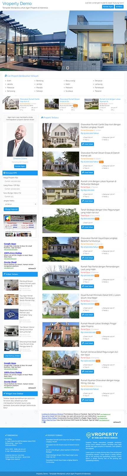 Jasa Pembuatan Website Situs Agen Properti Termurah | Menuu.id