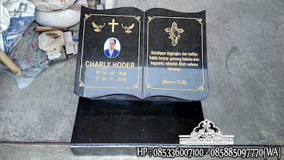 Nisan Kuburan Kristen, Jual Batu Nisan Kristen Buku, Model Batu Nisan Kristen