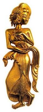 arca emas majapahit  peninggalan kerajaan gajah mada