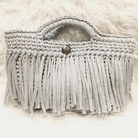 TシャツヤーンSmooTeeを使った フリンジバッグの編み方