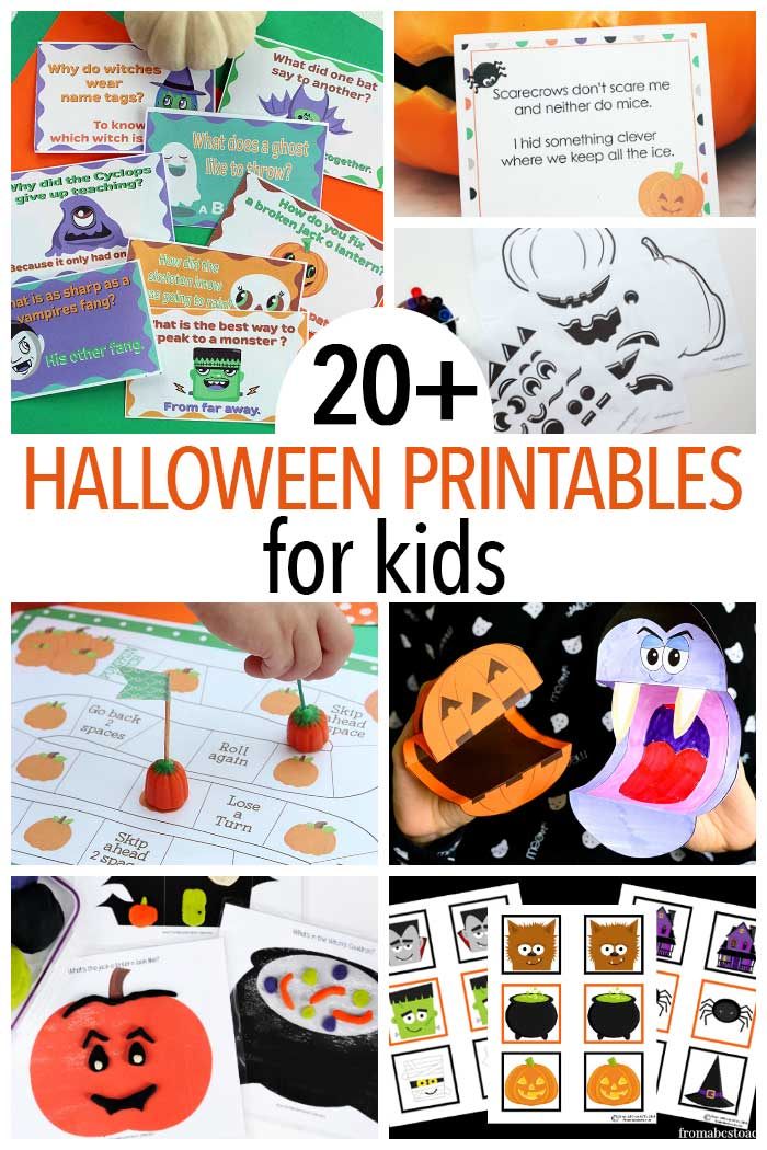 Halloween printables for kids! Halloween lunch box notes, Halloween activities, Halloween party games, Halloween learning activities and more.