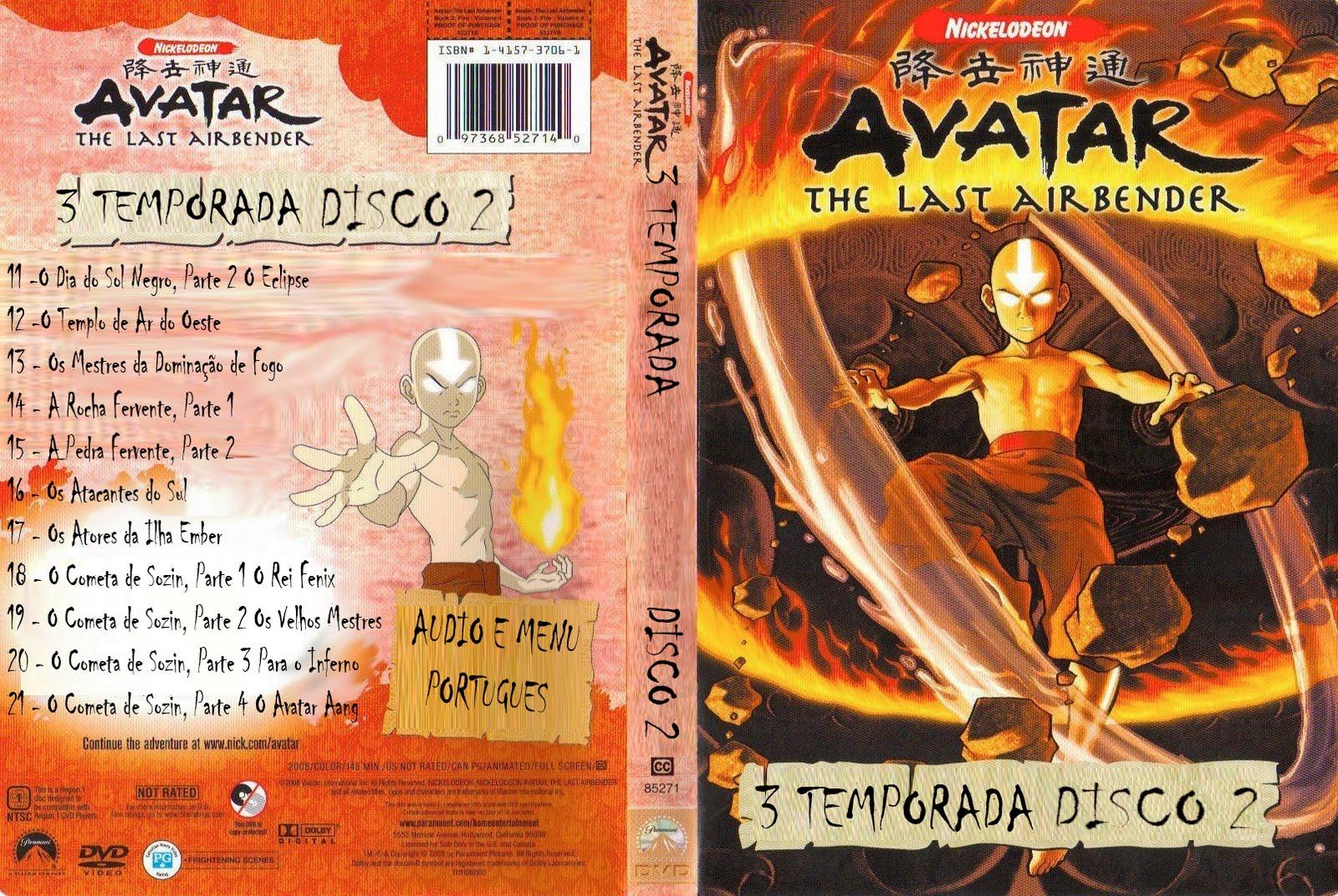 avatar a lenda de aang livro 3 fogo