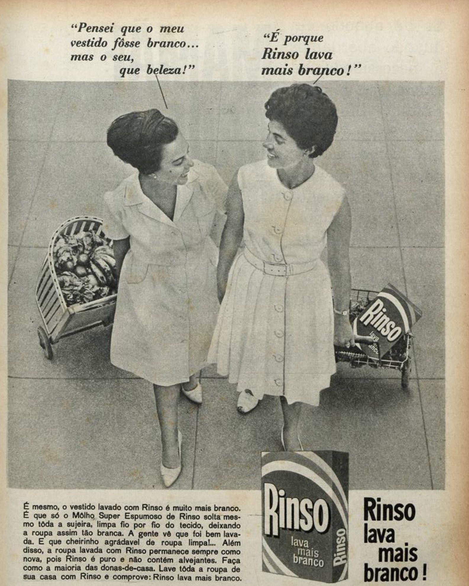 Propaganda antiga do Sabão em Pó Rinso veiculada no ano de 1965