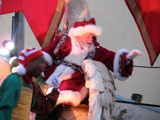 Santa Clause at Universal Studios in Orlando Florida