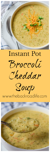 Instant Pot Broccoli Cheddar Soup pinterest