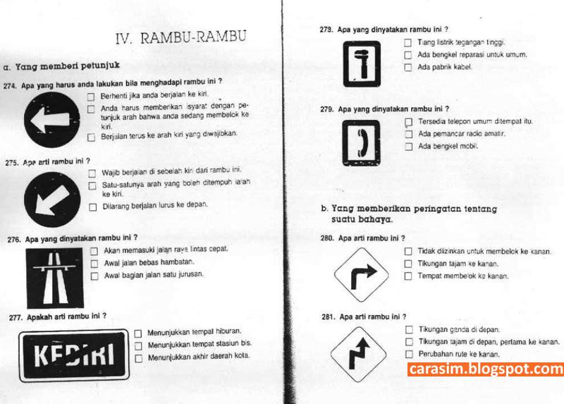 Soal Ujian Sim C Dan Jawaban Cara Sim