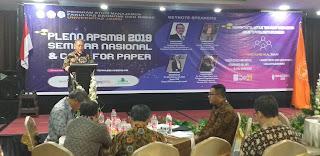 Wakil Rektor Bidang Perencanaan, Kerja Sama dan Sistem Informasi UNJA Secara Resmi Membuka Pleno APSMBI Dan Seminar Nasional, Call For Paper.
