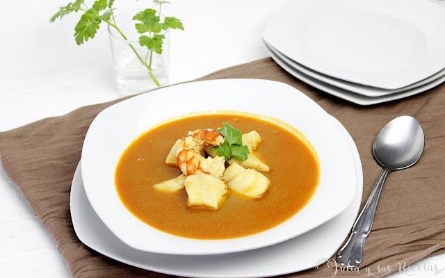 Sopa de pescado. Julia y sus recetas