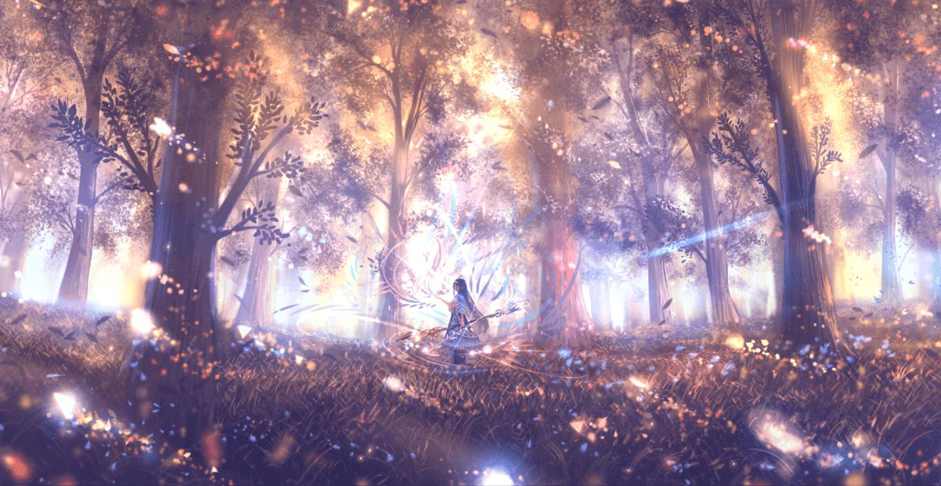Magic girl [2K 5.1 Surround Sound] [Wallpaper Engine Anime]
