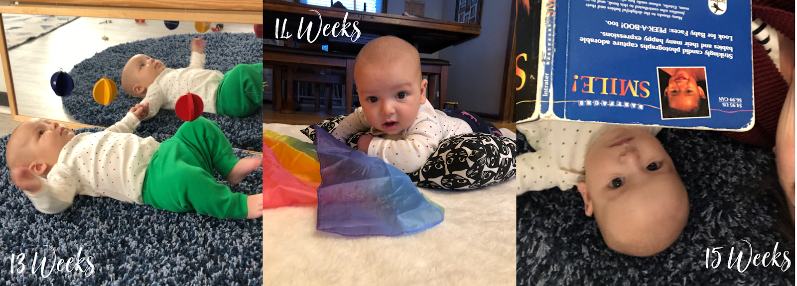 Montessori activities for young babies up to 24 weeks old. These simple activities are easy to keep babies happy and entertained.