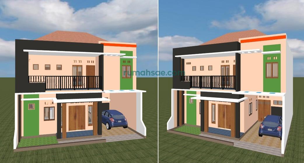 Desain Rumah Minimalis Sederhana Ukuran Tanah 10 m x 10m