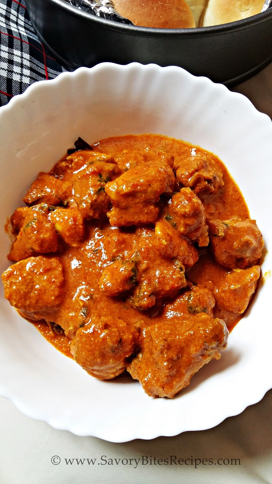 Spicy Chicken Curry Gravy Indian