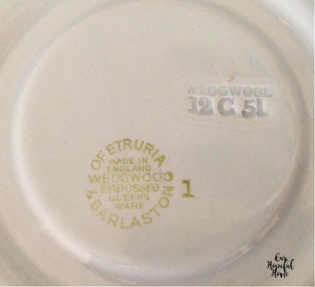 Wedgewood of Etruria & Barlaston made in England makers mark