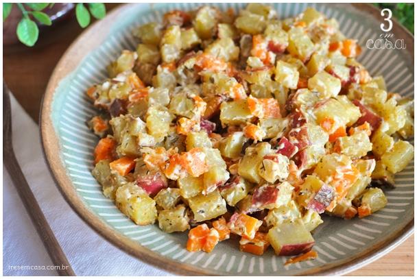 maionese de batata doce para churrasco