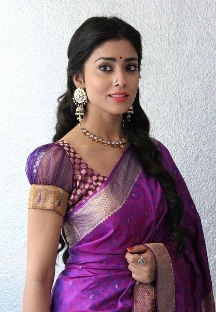 Shriya Saran Photos In Violet