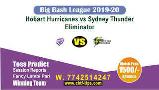 cricket prediction 100 win tips Hobart vs Thunder
