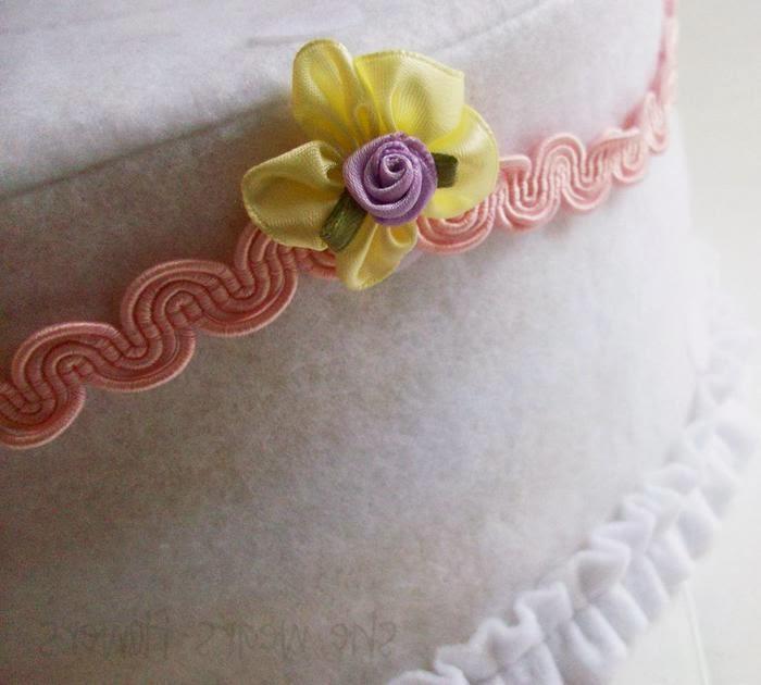 Торт из ткани и фетра с выкройкой. How to make a cake fabric. DIY tutorial
