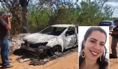 Bahia: Ossada encontrada em carro carbonizado é de mulher desaparecida em Vera Cruz