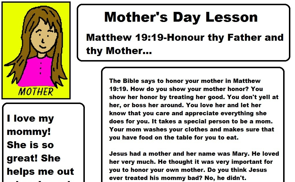 Church House Collection Blog Mother S Day Sunday School Lesson