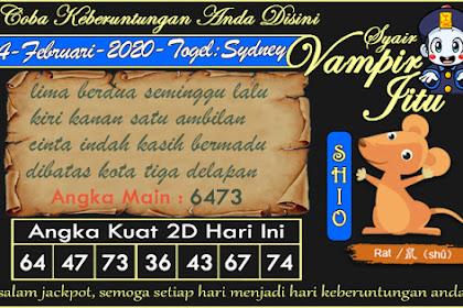 Syair Vampir Jitu Togel Sydney Senin 24 Februari 2020