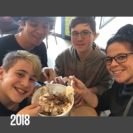 Eating the Vermonster at Ben and Jerry's