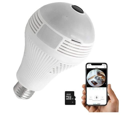 NAIYO Light Bulb Dome Full HD Surveillance Camera