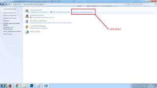 pilih change windows password