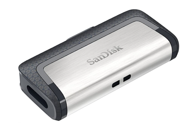 SanDisk Ultra Dual USB Drive 3.1, SDDDC2 32GB, Black, USB 3.1/Type C Reversible Connector, Retractable Design, Type-C OTG-Enabled Android Devices, 5Y