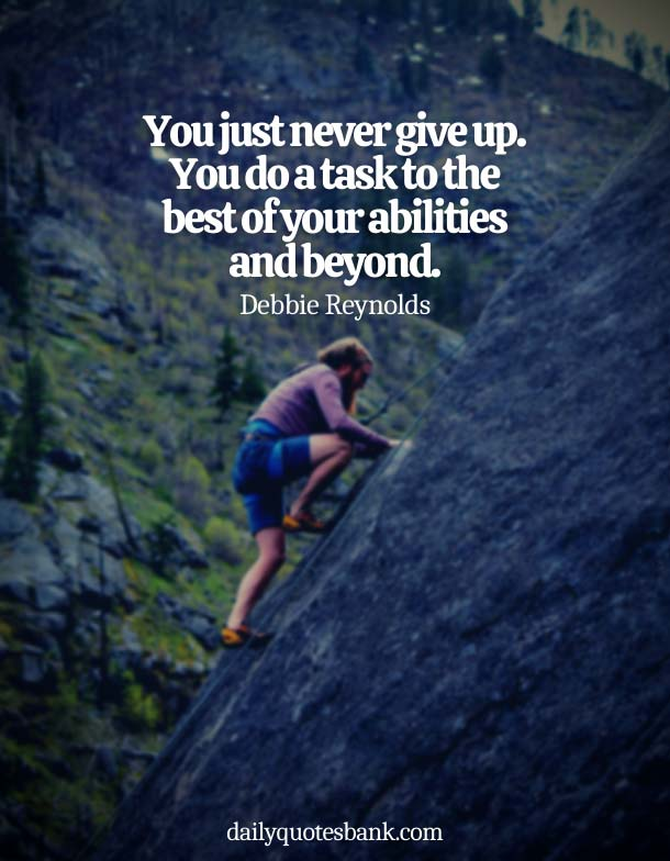 Best Quotes About Not Giving Up