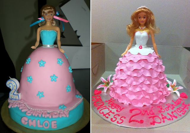 doll wedding cakes