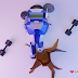 3D Lowpoly Character Robot Design