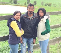 yuzvendra chahal with her sisters