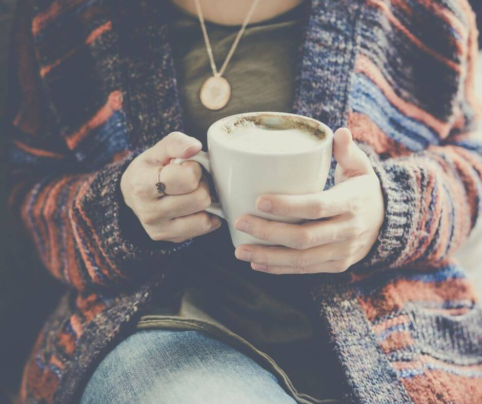 How To Cope When Your Kid Goes On A School Residential Trip | Sit and drink a hot coffee, maybe even read a book!