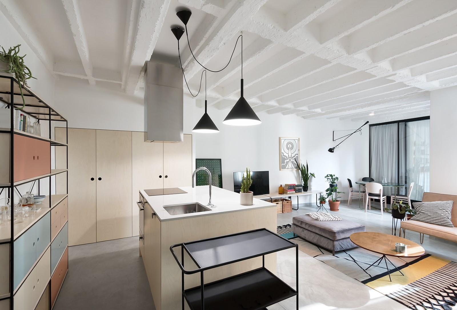 Appartamento moderno dalle linee pulite a belgrado by for Appartamento moderno