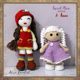 Куколки Sweet Noa & Anni вязаные крючком amigurumi амигуруми