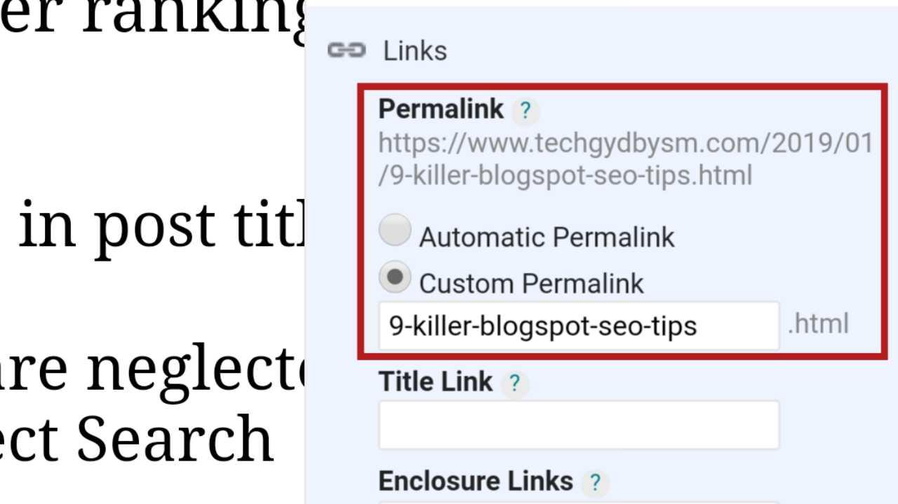 Custom Permalink