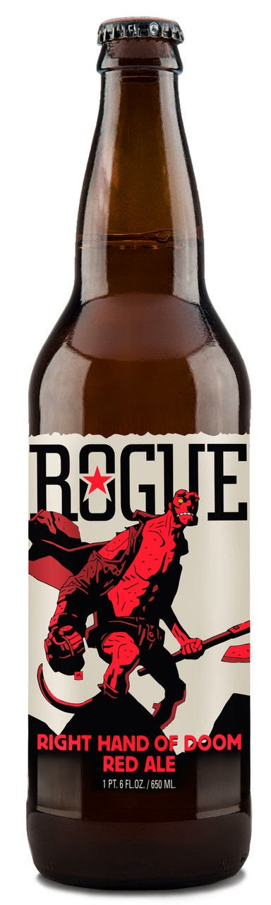 "Hellboy ""Right Hand of Doom"" Red Ale by Rogue Ales"