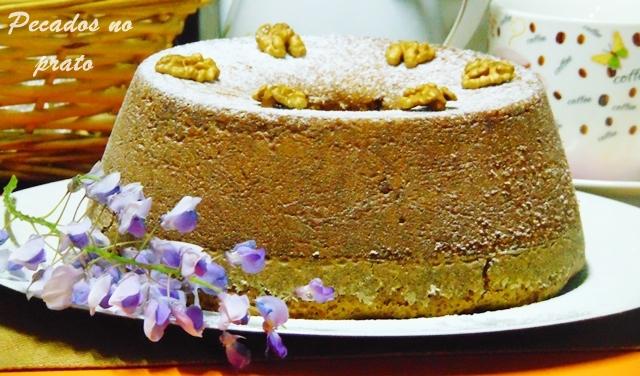 Receita de bolo de Nozes simples