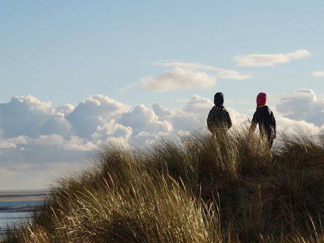 Urlaub auf Fanø mit Kindern: 12 Ausflugstipps für das wunderschöne Sønderho. Der Blick von den Dünen von Sönderho über die Nordsee ist herrlich, besonders zum Sonnenuntergang!