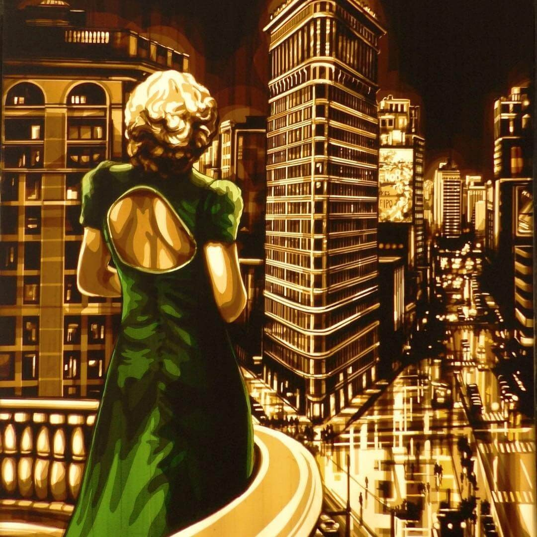 01-New-York-Woman-Max-Zorn-Film-Noir-and-Vintage-Packing-Tape-Art-www-designstack-co